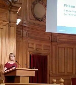 Annika Strandhäll under utfrågningen.