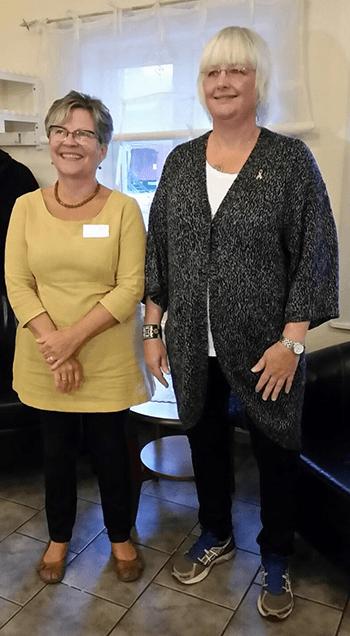 Britt-Marie Lundgren Ståhl och Annica Johansson föreläste.